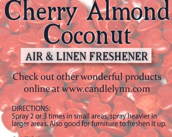 Fragrance Spray - CHERRY ALMOND COCONUT (Cupid) - 8 oz -  Bath & Home