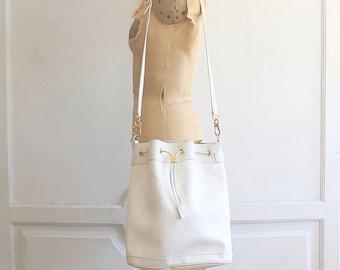 vintage GUCCI bucket bag | rare white Gucci 80s