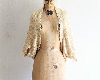 vintage 90s DKNY cardigan | cream sweater shrug | DKNY pure