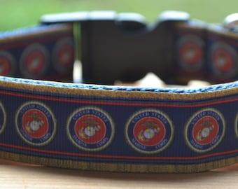 Marine dog collar & leash