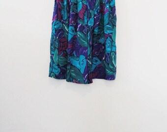 90's Floral Rayon Shorts
