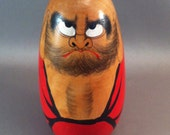 Vintage Japanese Daruma Buddhist Doll, Zen Buddhist Daruma, Bodhi Dharma Head, Kokeshi Dolls, Japanese Monk Wood Doll, Daruma Monk, USA ONLY
