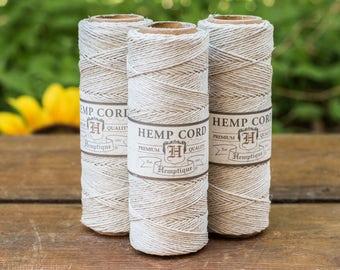 Natural Hemp Cord, 0.5mm, 10lb,  Natural Twine,   Thread, Hemptique, 100% Hemp Fiber -TW15