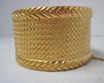SALE ! Vintage Christian Dior Gold Cuff Bracelet