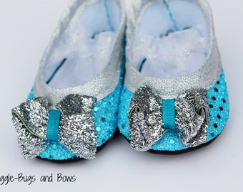 The Snow Queen Play Slippers (Sizes 1 - 5) MEASURE your child's foot PLEASE