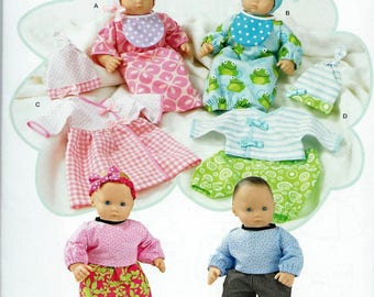 """BITTY BABY TWINS Doll Clothes Pattern by Simplicity #1937.   Will fit other 15"""" dolls. Uncut"""