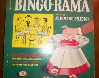 Vintage Bingo-rama Automatic Selector Bingo Game Complete