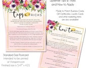 LipSense Tips and Tricks, LipSense Instructions, Lipsense Marketing Materials, Business Cards, Loyalty Cards, How to Apply, Instant Download