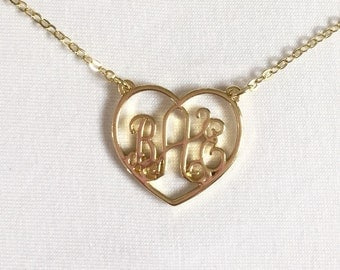SALE BAE Heart Large Charm Necklace in Gold