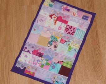 Scappy Barbie Quilt / Mini Quilt / Car Seat Quilt / Barbie Blanket / Doll Blanket