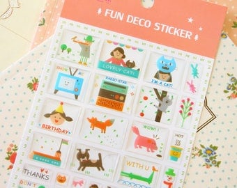 Pink Fun Deco Puffy scrapbooking diary stickers