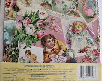 Vintage PLAID DECOUPAGE PAPER Tea Time Victorian Lady Teacup Girl Flower Teddy Bear Cup Party Ladies Women Woman Boy Postcard Cherub Art Nos