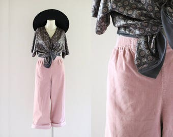 high waist blush corduroy trousers / l