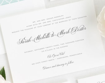 1940s Wedding Invitations - Deposit