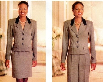 1990s Womens Fitted Suit Pattern - Butterick 4703 - Size 6 8 10 UNCUT FF