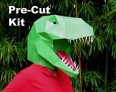 Dinosaur Mask - Pre-Cut T-Rex Mask Kit - Build a Tyrannosaurus with just Glue!   Paper Mask   DIY Mask   Halloween Mask   Dinosaur Costume