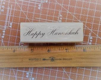 Happy Hanukkah Rubber Stamp by Craftsmart
