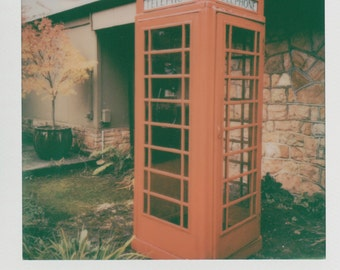 Red Phone Booth Instant Printed Photo - Decorate with a vintage feel - Free Domestic Shipping