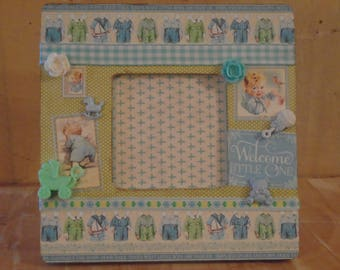 Little Darlings Baby Decoupaged Picture Frame