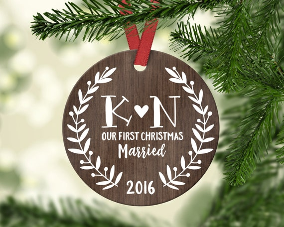 Wedding Gift Ornaments: Wedding Gift First Christmas Ornament Married Wedding Gifts
