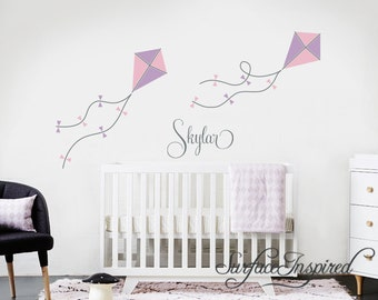 Kite Wall Decals Etsy - Personalized custom vinyl wall decals for nurserypersonalized vinyl etsy
