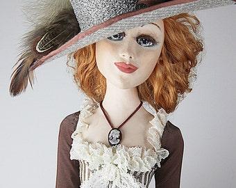 Author's Dolls, Art dolls, Handmade dolls, sculpture doll, paper clay dolls, unique handmade dolls, collectible dolls, art deco doll