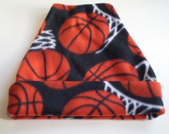 Basketball Fleece Hat, Basketball Fleece Cap, Basketball Slouchy Hat, Basketball Slouchy Cap, Basketball Beanie Hat, Basketball Beanie