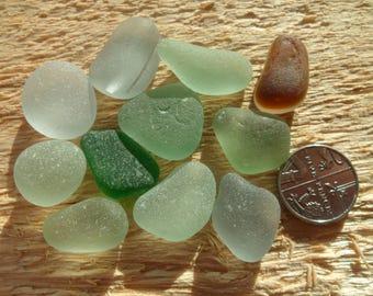 JQ Pendants Seaham Beautiful English Sea Glass - Free Shipping (5234)