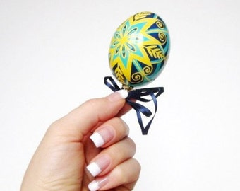 Birthday gift idea for wife who loves Pysanky Ukrainian Easter egg ornaments personalized keepsake wedding anniversary Christmas gifts