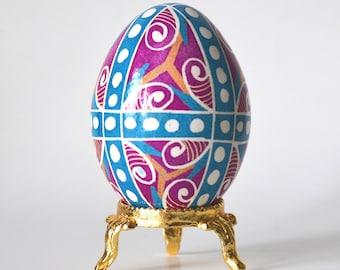 baby's first Easter egg gift for baby girl first Easter Pink Pysanka Ukrainian Easter egg hand painted egg ornament