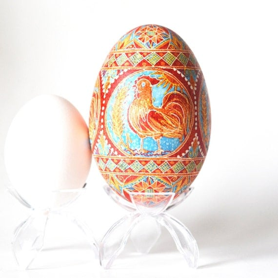 Year of the rooster goose egg Chinese calendar 2017 Red rooster Lucky rooster ornament 2017 New Year Chinese family gift