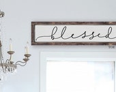 Blessed Sign | Scripture Verse | Typography Word Art Sign| Wooden Sign | Christmas Gift