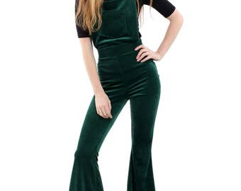 Band of Gypsies Cord Dungaree Bell Bottom Jumpsuit - 2 Colours Available