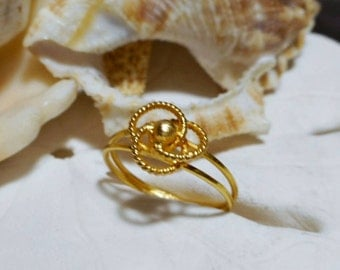 18k Love Knot Ring 1.25g 18k Yellow Gold Size 3.5