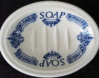 Royal Crownford Staffordshire England Ceramic Soap Dish