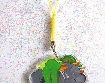 Manatte lettuce wrap deluxe acrylic phone charm