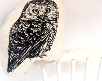 Plush Owl, Stuffed Owl Toy,  Soft Toy, Stocking Stuffer, Stroller Buddy, Cuddly Toy, Owl Plushy