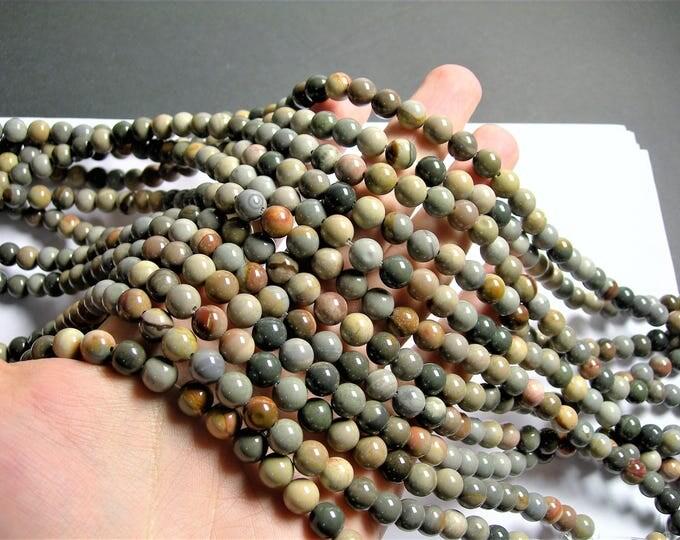 Polychrome jasper - 8mm(8.3mm)  round beads - full strand - 47 beads - A quality - RFG1283