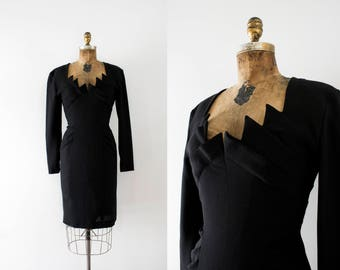 1980s A Night In Paris couture party dress / 80s Emmanuelle Khanh