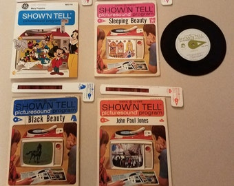 Vintage GE Show and Tell Picture Sound Records
