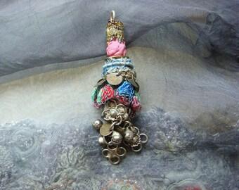 marrakech - a mixed media boho gypsy pendant