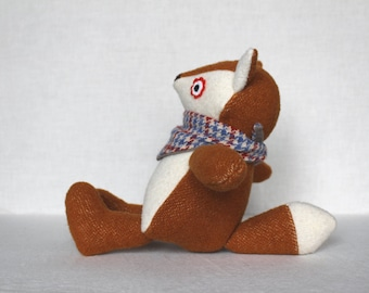 Fox Plush Toy, Upcycled