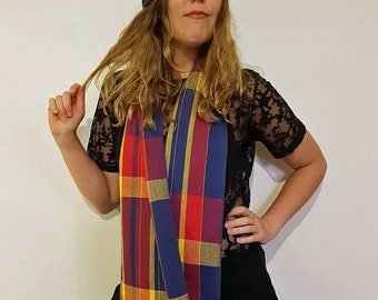 Handwoven Cotton Loop Football Scarf - Adelaide Crows