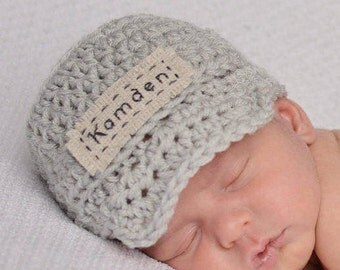 Newborn Photo Outfit - Personalized Name Hat -  Monogrammed Baby Clothes - Customized Baby Boy Gift - Infant Boy Crochet Hat - Baby Name Hat