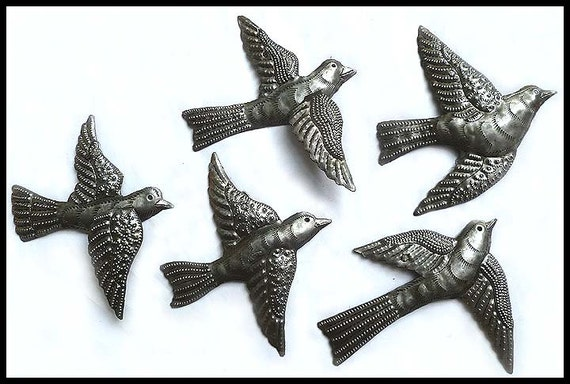 Metal Bird Wall Decor Target : Flock of birds metal art bird wall hanging haitian steel