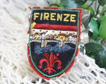Vintage 1960 Florence Italy Patch, Firenze Souvenir Patch