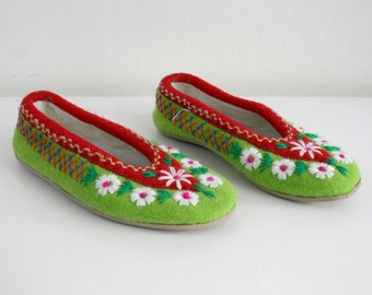 Embroidered Polish House Shoes