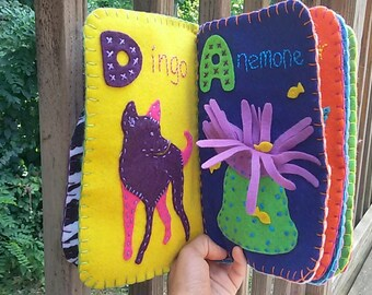 Obscure Animal Felt Name Book