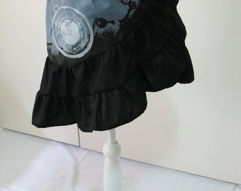 ooak STEAMPUNK grey bustle hip scarf belly dance skirt