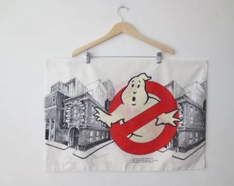 RESERVED! Vintage '80s GHOSTBUSTERS Standard Size Pillowcase by Stevens, Cotton/Poly, Made in USA